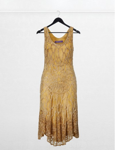 Vestido dorado Ralph Lauren Collection